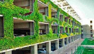fachada de jardines verticales