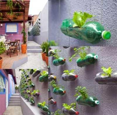 Como hacer los jardines verticales con botellas de plastico - Como hacer jardines verticales ...