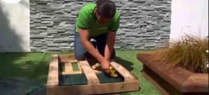 como hacer los jard n vertical con pal t de madera