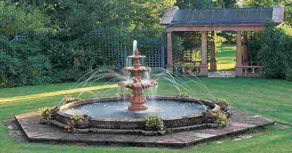 de fuentes para decorar el jardín