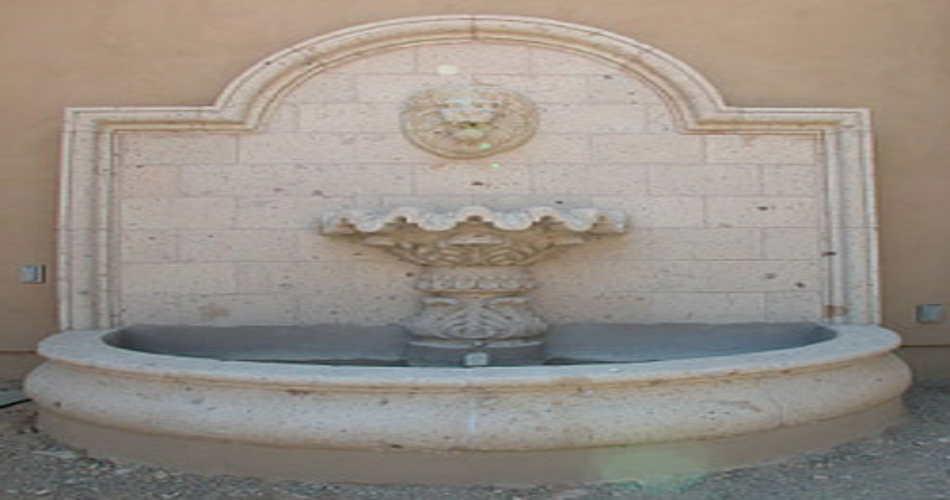 Tipos de fuentes para decorar el jard n - Fuente de pared ...