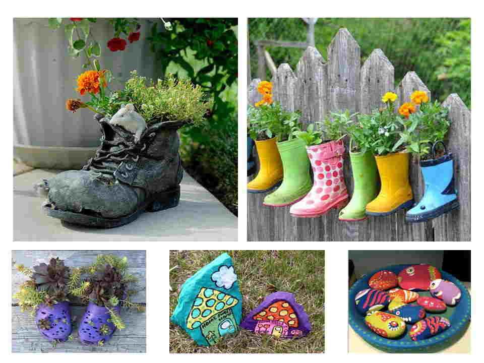 Como hacer un jard n con materiales reciclados for Figuras para jardines