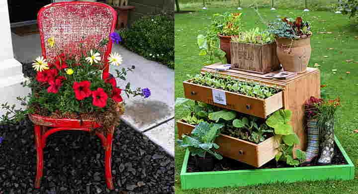 Como hacer un jard n con materiales reciclados for Decoracion jardin pequeno reciclado