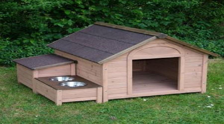 Por qu instalar una caseta de perro en el jard n - Casa de madera jardin ...